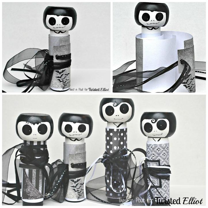 creepy kokeshi Collage