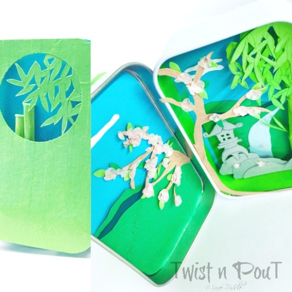 japanese garden papercut