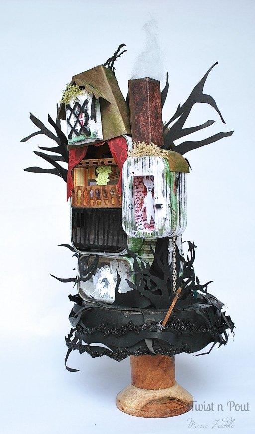 haunted house tin