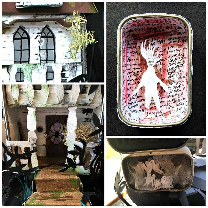 hauntedhouse collage